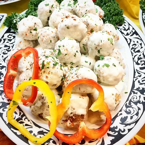Buffalo Chicken Meatballs With Bleu Cheese Sauce @ Annie's Vintage Gourmet Market