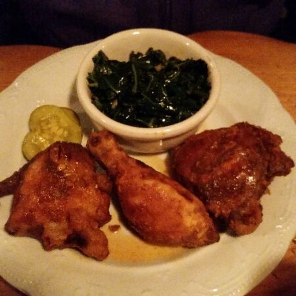 Fried Chicken With Collard Greens @ State Park