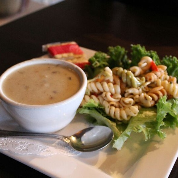 Cream of Mushroom Soup & Pasta Salad @ Chalice