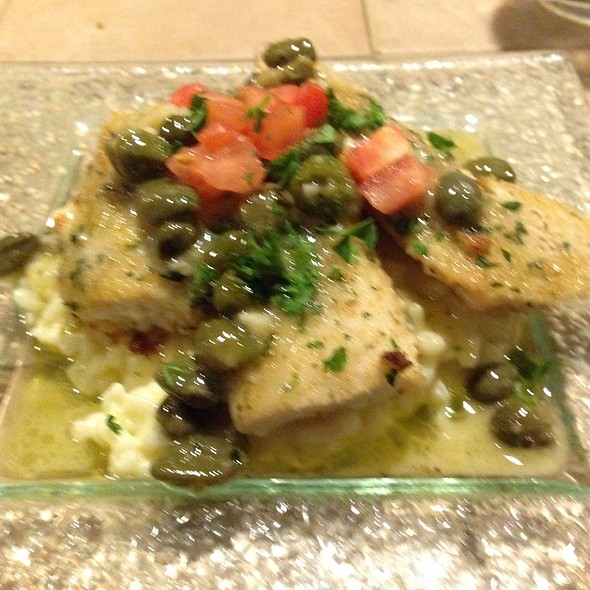 Mahi Filet Over Orzo Picatta