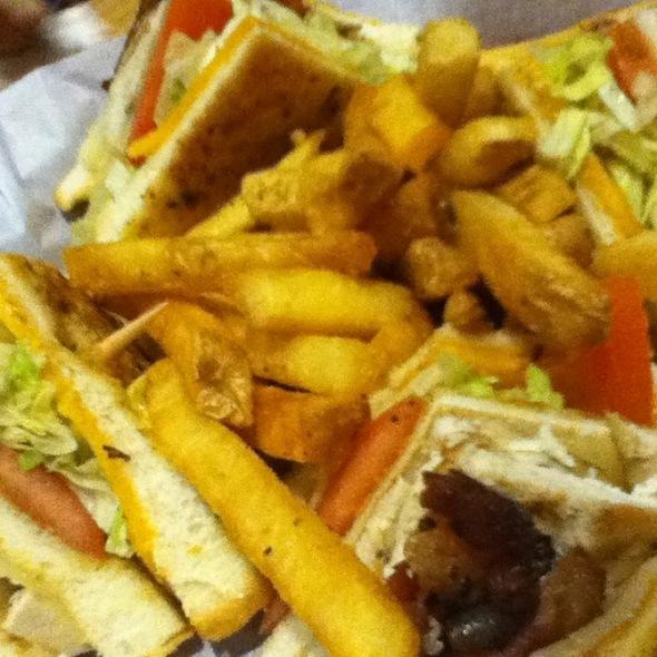 Cajun Club Sandwich with French Fries @ Chili's