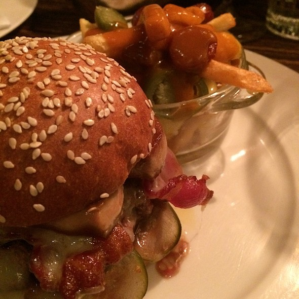Bacon Cheeseburger With Seared Foie Gras And Poutine @ Little Social