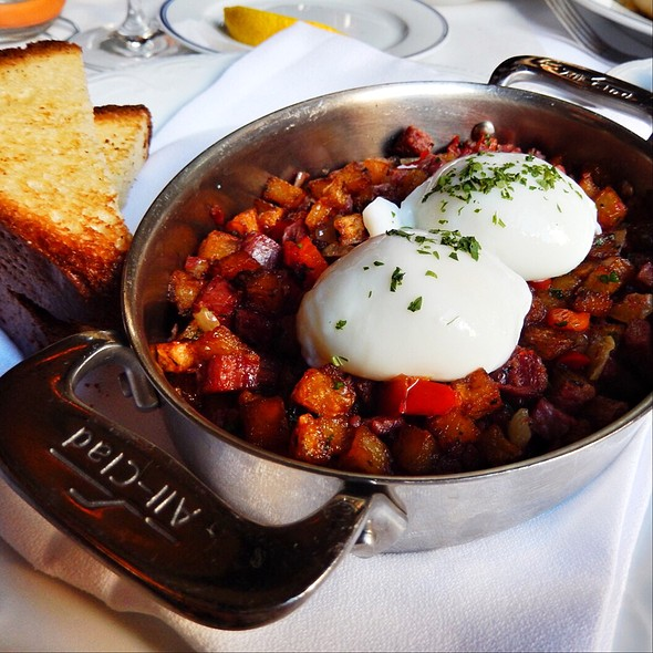 Corned Beef Hash, Poached Eggs, And Toast @ Bouchon