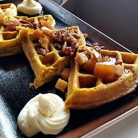 Pumpkin Waffles - The Settlers Inn, Hawley, PA