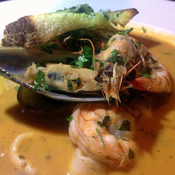 Parihuela (Tomato Based Seafood Soup) - Cafe Secret, Del Mar, CA