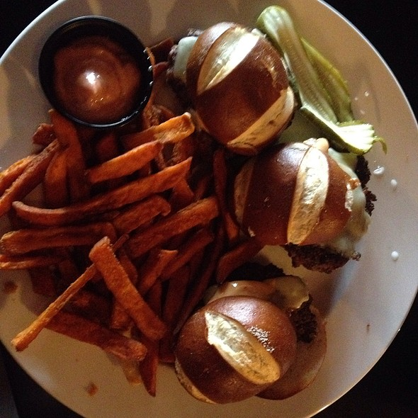 Pretzel Sliders @ 12 West Bar & Grill
