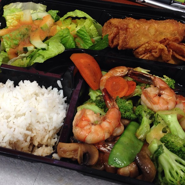 Shrimp & Vegetable On Rice Bento @ Chop Stix Bistro