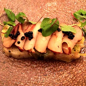 Sous Vide Scallop Over Citrus Leeks And Caviar