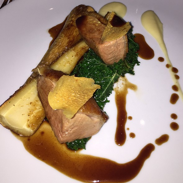 Duck With Parsnip, Kale And Chickpea Crisp - Teatro Restaurant, Calgary, AB
