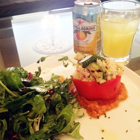 Couscous Stuffed Pepper @ Norma Ridley Members Lounge At Ago