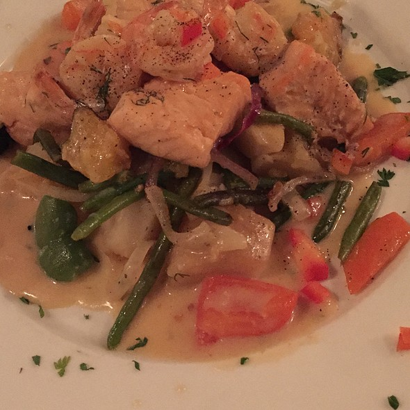 Shrimp And Salmon Combination - Andies Restaurant - Lakeview, Chicago, IL
