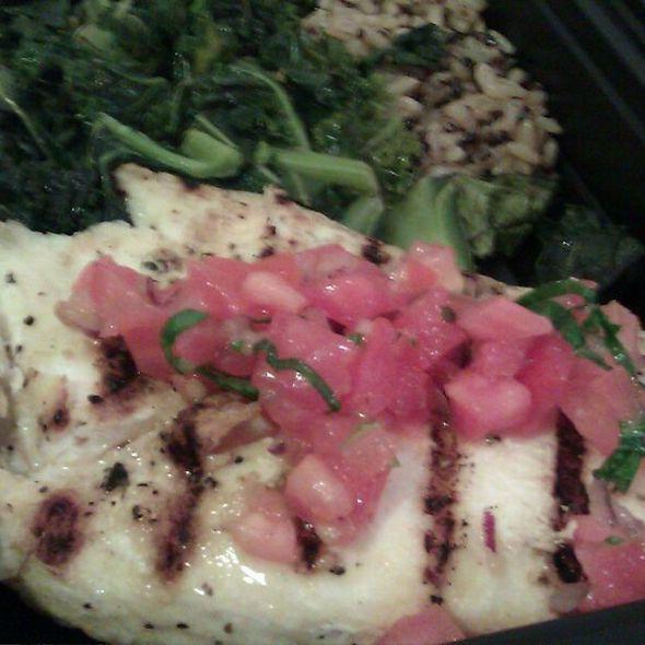 Grilled Mahi Mahi with Organic Greens & Quinoa Brown Rice Blend @ Rent A Chef Inc.