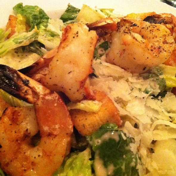Shrimp Caesar Salad @ Remo's Brick Oven Pizza