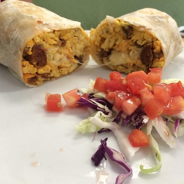 Breakfast (Chorizo) Burrito @ Denica's