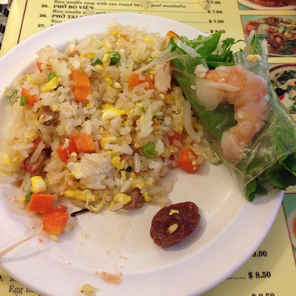 Spring Roll And Fried Rice