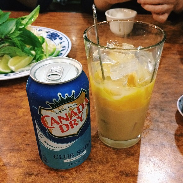 Soda With Egg Yolk @ Pho Tau Bay