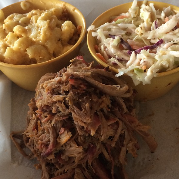 Bbq Pulled Pork With Apple Cole Slaw @ Sauced BBQ & Spirits