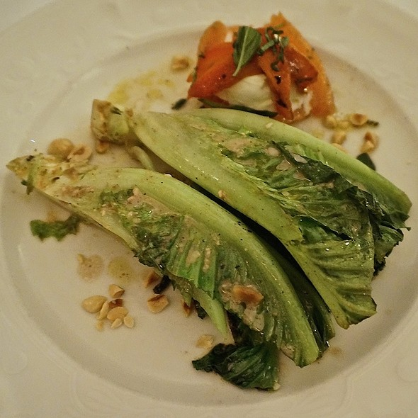 Grilled Caesar and Caprese salads with anchovy hazelnut vinaigrette - Scalini Fedeli, New York, NY