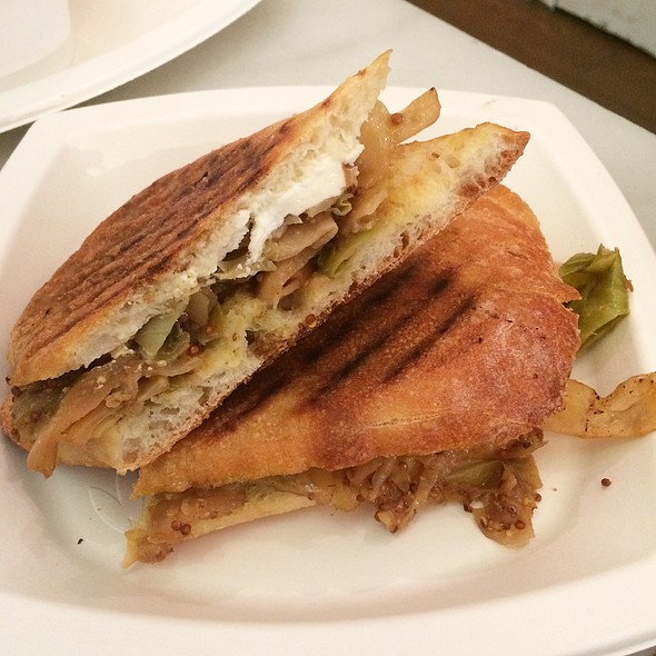 Mustard Braised Cabbage And Burrata Panini @ Dominique Ansel Bakery