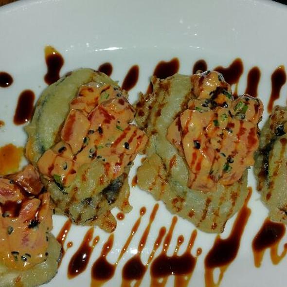 Spicy Bigeye Tuna Tartare, Tempura Japanese Eggplant, Kecap Manis