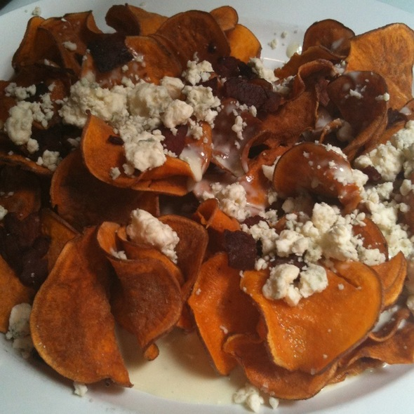 Sweet Potato Chips With Blue Cheese And Prosciutto - Sullivan's Metropolitan Grill, Anderson, SC