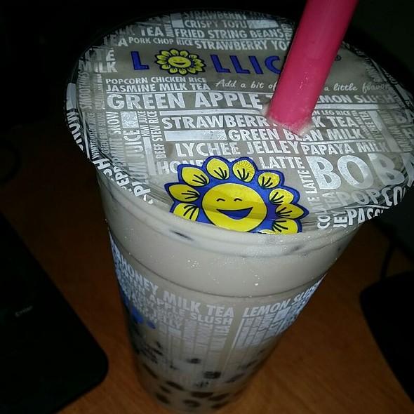 Almond Milk Tea With Boba @ Lollicup Coffee & Tea