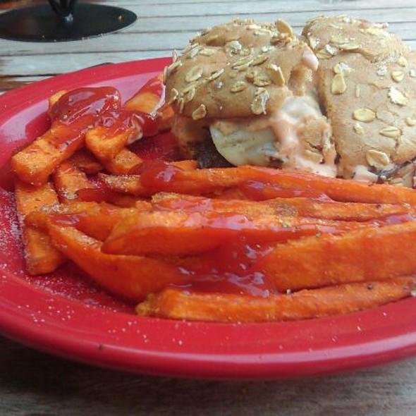 3 Mushroom Burger Add Bacon And Egg @ Square 1 Burgers