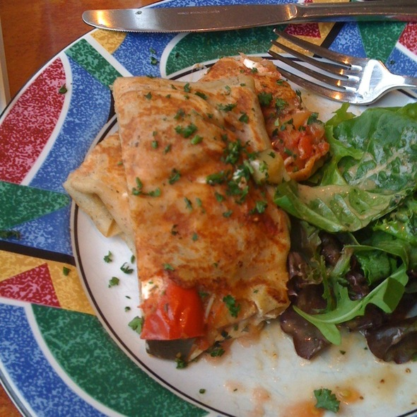 Goat Cheese & Ratatouille Crepe @ Crepes On Columbus