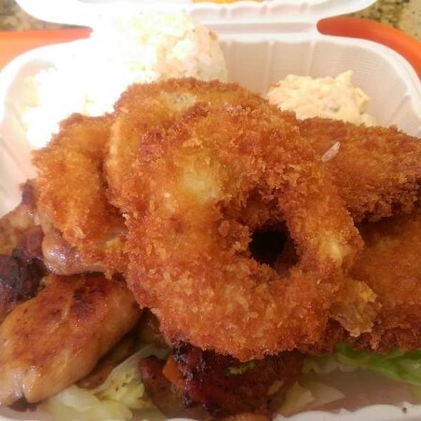 #5 White Fish, Bbq Chicken, Fried Shrimp @ Ono Hawaiian BBQ