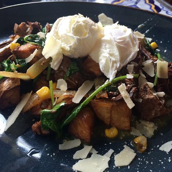 Huevos Ahoghada Con Shortribs - Rocco's Tacos & Tequila Bar - Boca Raton, Boca Raton, FL