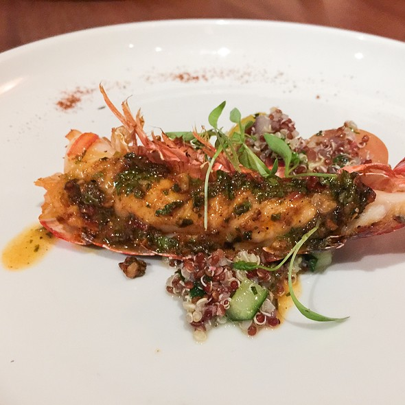 North African Spiced Lobster With Quinoa Tabbelouh @ Japengo - Hyatt Regency Waikiki