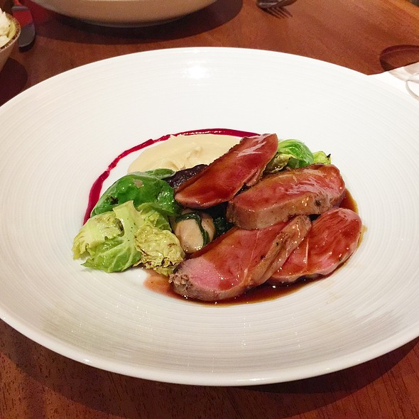 Duck Fat Sous Vide Duck Breast With Charred Brussels Sprouts @ Japengo - Hyatt Regency Waikiki