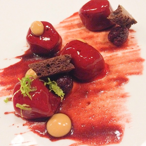 Cherry Covered Chocolate, Molasses, Lime