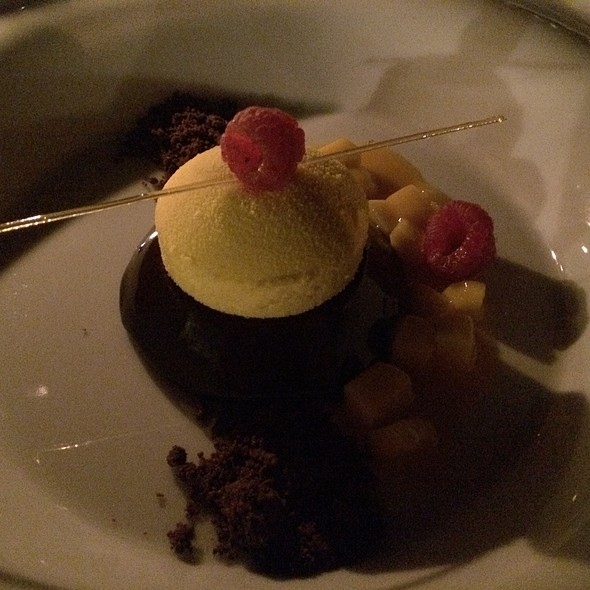 Chocolate Mousse With Mango @ Al Maha Desert Resort And Spa