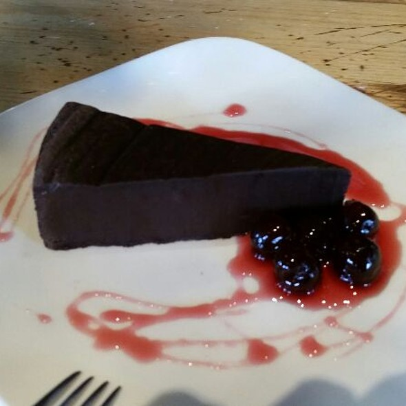 Flourless Chocolate Torte W/ Preserved Cherry Sauce - Bella Notte, Lexington, KY