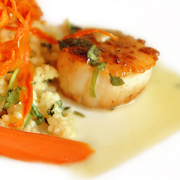 Pan Seared Scallops  @ alexander's horseshoe bar grill