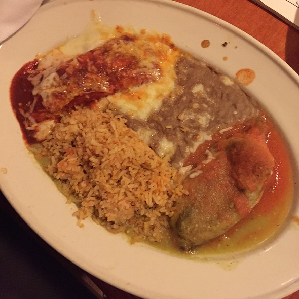 Chicken Enchillada And Chile Relleno