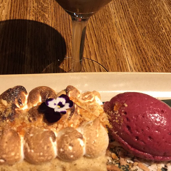 Pb&J Tres Leches Cake With Concord Grape Sorbet