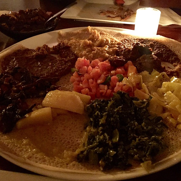 vegetarian sampler - Ethiopic, Washington, DC