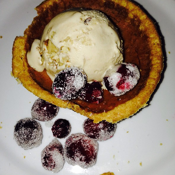 Pumpkin Pie With Salted Walnut Ice Cream