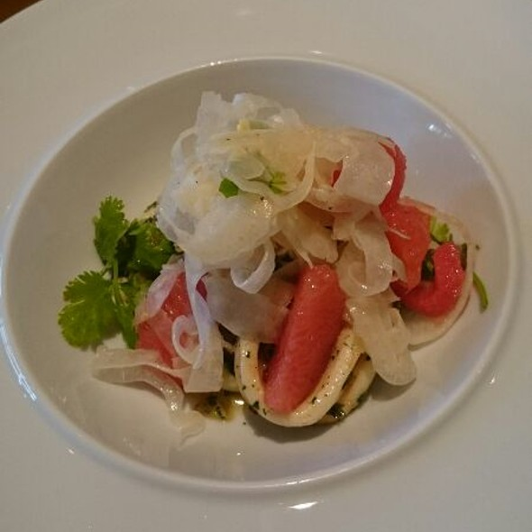 Grilled Coriander & Chilli Calamari With Fennel Salad And Grapefruit