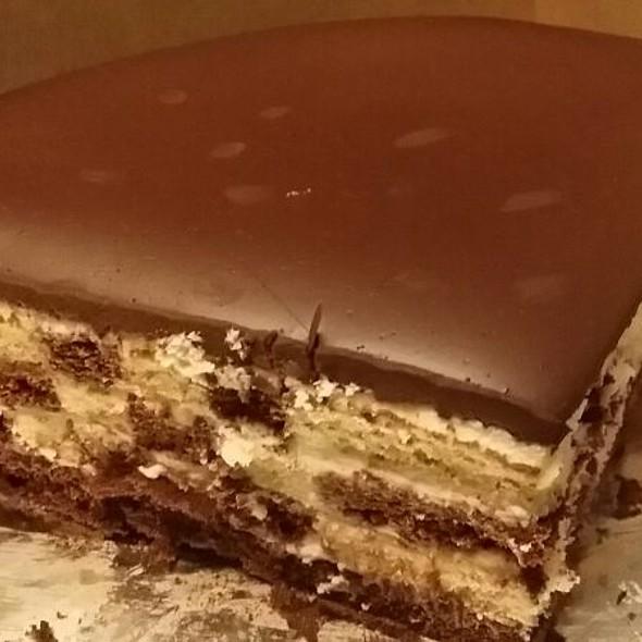 Checkerboard cake @ Lady M Cake Boutique
