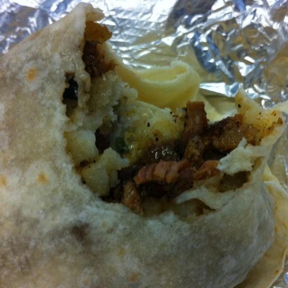 Sisig California Burrito @ Señor Sisig - Filipino Taco Truck