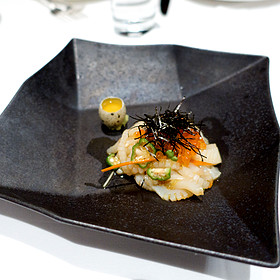 Lissa's Staff Meal; Cuttlefish Noodles Tossed With Sea Urchin, Quail Egg, Umami Soy Sauce And Wasabi
