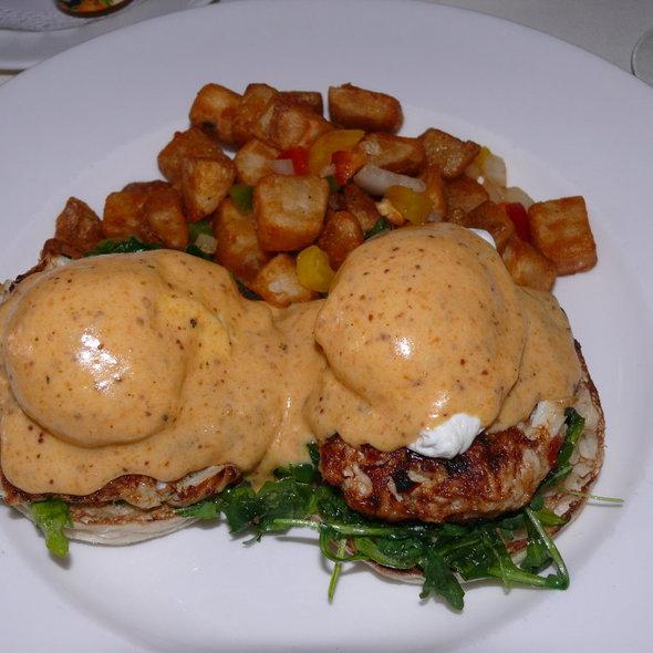 Crab Cake Benedict - Halls Chophouse, Charleston, SC