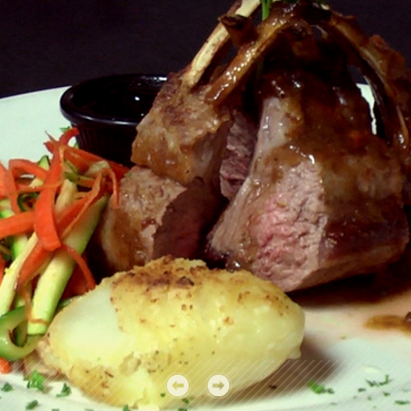Rack of Lamb - Backstreet Bistro, Palm Desert, CA