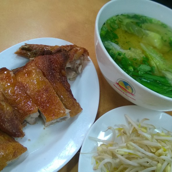 Crispy Skin Chicken With Egg Noodle (soup)