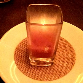 Cilantro Strawberry Gazpacho - Alizé at the Top of the Palms Casino Resort, Las Vegas, NV