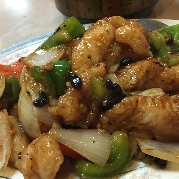 Fillet Of Fish With Black Bean Sauce @ Won Kee Seafood Restaurant