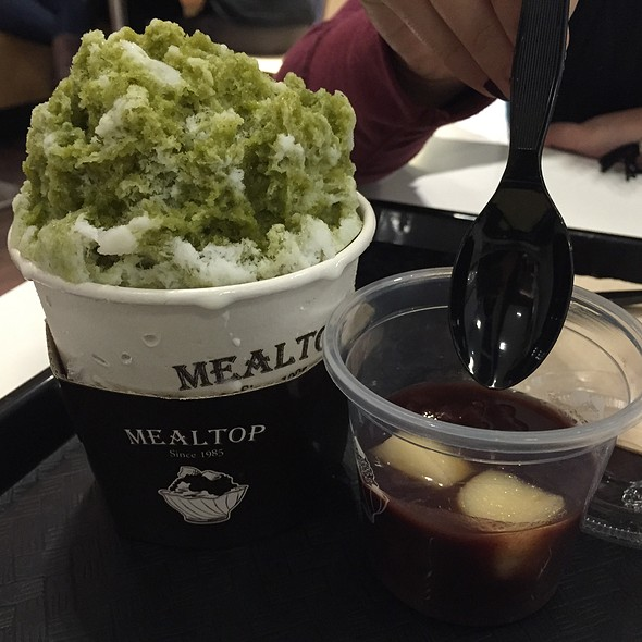 Green Tea Bingsoo With Red Bean @ Mealtop - Westfield Valley Fair